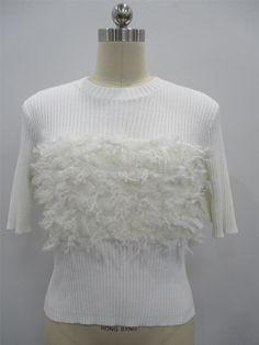 ladies sweaters white knit sweater viscose