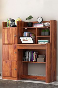This piece is a suitable option for people who are looking for a space-saving study table design idea that can provide them with some extra storage space as well. There is a fordable top desk that you can easily use whenever needed. With 3 spacious cabinets and 6 racks, this study table can be used for multiple purposes in a room. If your room has a vacant corner, this study table is a perfect fit for it. #studytable #moderndesign #furniture #workspace #workdesk