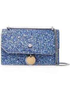 JIMMY CHOO Finley Crossbody Bag. #jimmychoo #bags #crossbody #leather #shoulder bags #pvc #glitter #cotton #