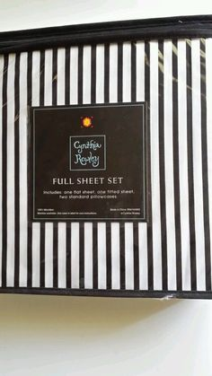 19 Best Black And White Striped Sheets Images Flat Sheets Home
