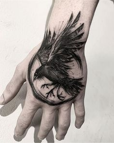 Bird Tattoo Men Ravens Crows New IdeasYou can find Ravens and more on our website.Bird Tattoo Men Ravens Crows New Ideas Tattoo Sketches, Tattoo Drawings, Body Art Tattoos, Sleeve Tattoos, Skull Tattoos, Norse Tattoo, Viking Tattoos, Tattoo Symbols Men, Ancient Tattoo