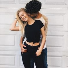 Nothing like nomming the neck of a cute girl with a sexy bellybutton!! ❤❤❤❤