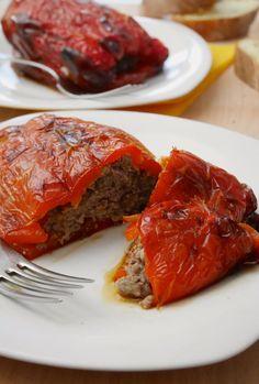 Peperoni ripieni di carne macinata