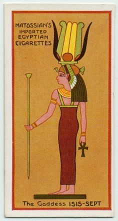 The Goddess Isis -Sept. From New York Public Library Digital Collections.