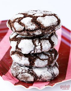 Biscoito craquelado de cacau - Gulab
