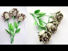 33e59b47d How to assemble a MONEY ROSE with a stem and leaves | BOUQUET OF ROSES |  Dollar gift | Tutorial DIY