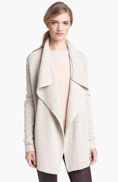 Free shipping and returns on Vince Drape Front Cardigan at Nordstrom.com. Plush ribbing textures a warm, yet lightweight, cardigan that beautifully drapes the figure in a sophisticated, easy-to-wear shape.