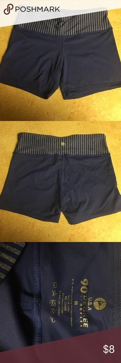Blue Spandex Gym Shorts Form fitting gym/cycling shorts. Size M Reflex  Shorts