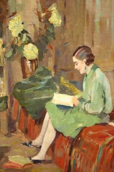 Evert-Jan Ligtelijn | Interior Painting of a Lady Reading