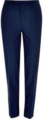 River Island Mens Bright blue slim suit pants