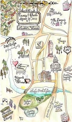 Have your invitations double as maps for the festivities! Don't miss these 11 affordable wedding ideas from real brides!