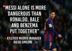 Lionel Messi sam jest bardziej niebezpieczny niż Ronaldo, Bale i Benzema razem • Diego Simeone o Lionelu Messim • Wejdź i zobacz >> #messi #lionelmessi #simeone #football #soccer #sports #pilkanozna