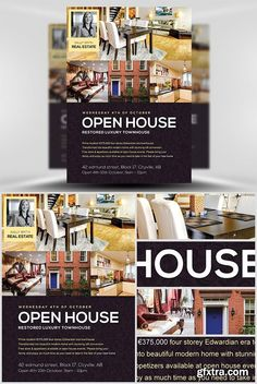 Vector, Photoshop PSDAfter Effects, Tutorials, Template, Free Flyer Templates, Brochure Template, Brochure Ideas, Blank Family Tree Template, Student Business Cards, Open House Signs, Beautiful Modern Homes, Restaurant Flyer, Real Estate Flyers