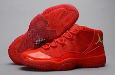 buy popular b9390 43bb3 Nike Air Jordan Xi 11 Retro Mens Shoes All Red Clearance Nike Air Jordan 11,