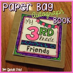 End of the Year Activity for Pre-K~5th Grade.  Includes 4 sets of inside pages to choose from.   TPT$