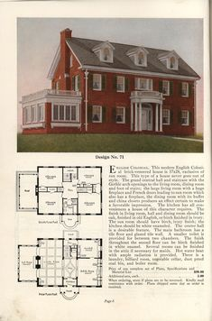 1925 Practical Homes Sims House Plans, Dream House Plans, Small House Plans, House Floor Plans, 1920s House, Vintage House Plans, Small House Decorating, Sims 4 Houses, Craftsman House Plans
