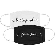 These calligraphy bridesmaid and groomsman wedding masks are one of our WeddingWire editors' top picks. Click for more wedding mask ideas. Planning your wedding has never been so easy (or fun!)! WeddingWire has tons of wedding ideas, advice, wedding themes, inspiration, wedding photos and more. {Etsy}