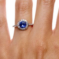 Gorgeous gorgeous GORGEOUS!!! I normally do not like circle shape blue sapphire rings but this one is beautiful!!!