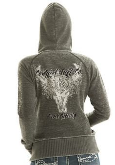 Cowgirl Tuff F00206 longhorn design on back at Billy's Western Wear in Boerne and Kerrville, Texas