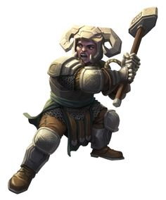 Female Dwarf Stoneplate Fighter -  Pathfinder PFRPG DND D&D 3.5 5th ed d20 fantasy