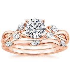 Brilliant Earth! I love this rose gold ring ...