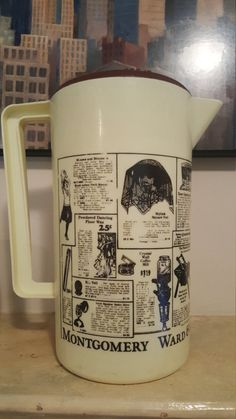 USED  VINTAGE Montgomery Ward & Co. Pitcher by NeeNeeWorld on Etsy