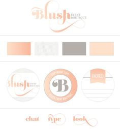 Brand/Logo Mood Board for Blush Event Boutique - design by Semicolyn