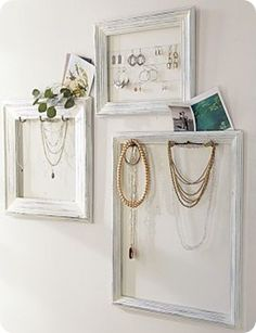 Jewelry storage - how would this look in place of art on bare wall in bedroom?? hmmmm?