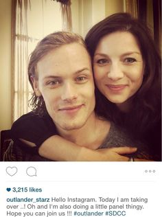 Are the lead actors in outlander dating