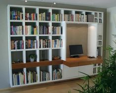 Home Office Furniture Design, Home Library Design, Home Office Space, Home Office Design, Bookshelves, Bookcase, Library Study Room, Living Room Wall Units, Home Libraries