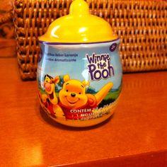Mini pote de mel do Ursinho Puff (mas com balinhas de laranja)