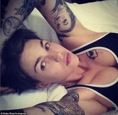 Shrug it off: Australian model Ruby Rose took to Instagram on Friday to call herself 'horrible' for abandoning a friend at spin class