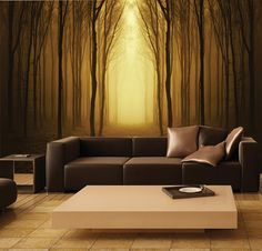 Beautiful wall mural - Mystical Forest!    Our products combine the high-quality and photo quality print for breathtakingly realistic