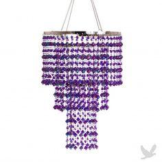 3 Tier Gemstone Crystal Chandelier - Purple