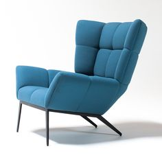 Shop SUITE NY for the Tuulla Armchair designed by Jeff Vioski for VIOSKI Furniture in 2014, and other modern upholstered wing chairs.