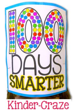 Celebrate the 100th Day of kindergarten in your classroom with this adorable hat that helps your students gain a real sense of the number 100!