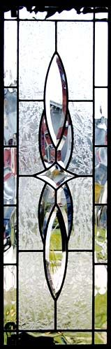 ZOOM to custom leaded glass bevel sidelight window