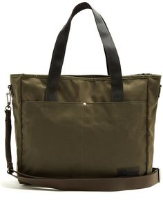 b9571f72962f3b Eastpak Kerr Axer canvas tote bag Khaki Green, Eastpak Bags, Distressed  Leather, Canvas