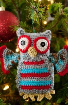Hoot Owl Ornament Crochet Pattern