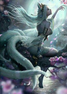 Pin by suzette johnson on creatures Dark Fantasy Art, Anime Fantasy, Fantasy Artwork, Fantasy Art Women, Beautiful Fantasy Art, Fantasy Girl, Art Anime Fille, Anime Art Girl, Fantasy Character Design