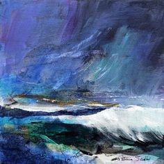 Patricia Sadler seascape — Rhythm of the Waves 4 Watercolor Landscape, Landscape Art, Landscape Paintings, Landscape Photos, Seascape Paintings, Nature Paintings, Abstract Nature, Abstract Art, Lovers Art