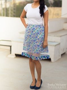 A-line Floral Skirt by LegallySewed on Etsy