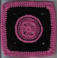 """That Button Square 8""""h x 8""""w inches (2 images) - Free Original Patterns - Crochetville"""