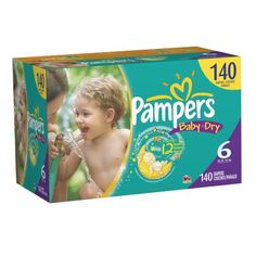 Pampers Baby Dry Size 6 Diapers Economy Pack Plus 140 Count $47.19