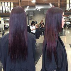 Subtle plum hair color