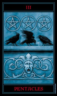 The Gothic Tarot: Three of Pentacles
