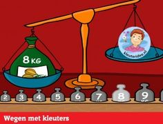 Wegen met kleuters op digibord of computer, kleuteridee, Kindergarten educative game for IBW or computer