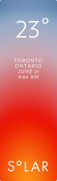 Toronto weather has never been cooler. Solar for iOS.