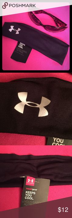 🆕 Under Armour Headband Authentic Under Armour Double Layered Headband. Black with Silver UA Logo. Youth/Unisex/Adult. 65% Polyester/35% Rayon. Brand New. Excellent Condition. No Trades. Under Armour Accessories