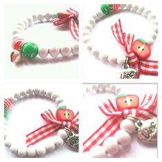 Apple a day kids bracelet by BengeltjesBeads